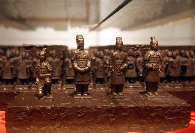 Xi'an cultural symbols made into chocolate art